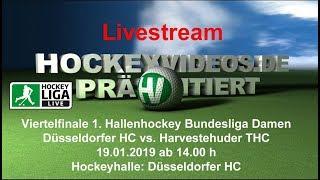 Viertelfinale Halle Damen DHC vs. HTHC 19.01.2019 Livestream