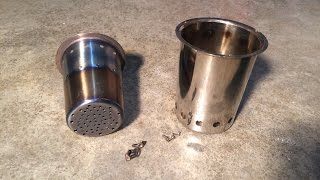 DIY PECKERHEAD  Small Camping, Wood Gas, Pellet,  Stove $28 How To ALL SS  Super Easy Portable Cheap