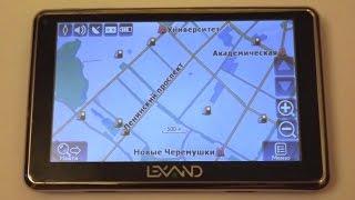 видео GPS-навигатор Lexand SR-5550 HD