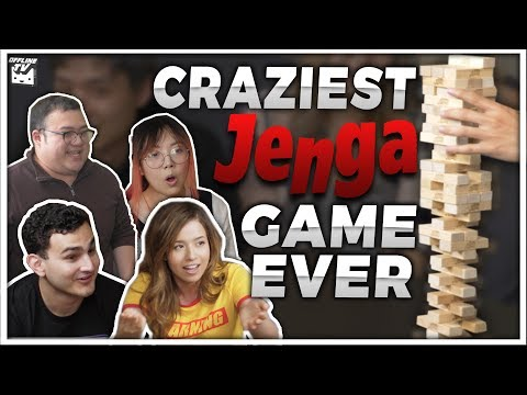 THE CRAZIEST JENGA GAME ft. POKIMANE, LILYPICHU, SCARRA, FEDMYSTER, ALBERT & MORE