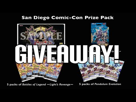 Yugioh TCG Ultimate Comic-Con 2017 Prize Pack Giveaway
