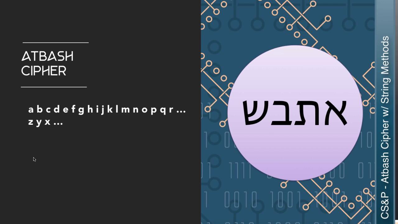 Learn CS: Create an Atbash Cipher w/ Python