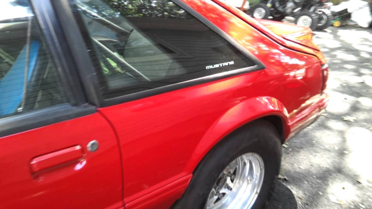 1990 Ford Mustang LX Race Car Rolling Chassis