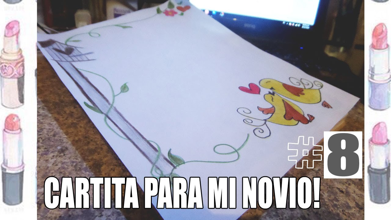 Como Decorar Una Carta Tutorial Como Decorar Una Cartita Para Mi Novio 8