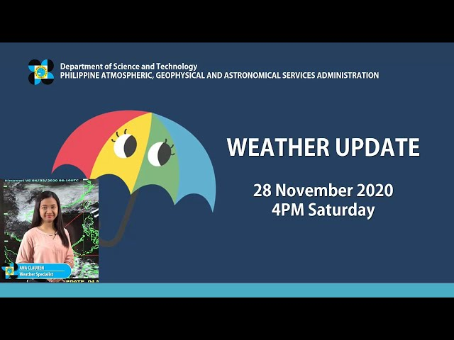 Public Weather Forecast Issued at 4:00 PM November 28, 2020
