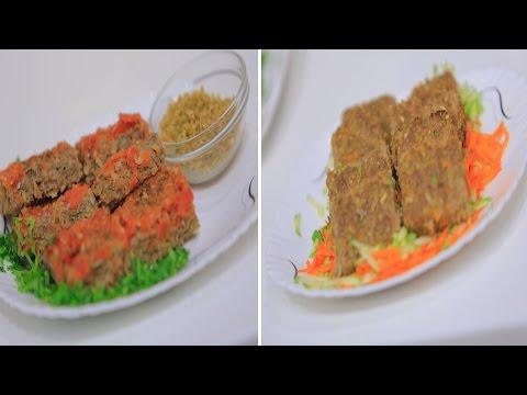 صينية لحمة مفرومة بالفريك - صينية لحمة مفرومة بالخضار  : على قد الأيد حلقة كاملة