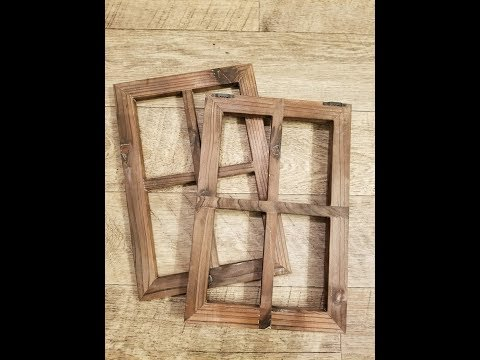 Cade Old Rustic Window Barnwood Frames -Decoration for Home or Outdoor