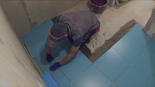быстрая укладка плитки в ванной!!! чистые швы!!!(, 2017-09-14T19:29:18.000Z)
