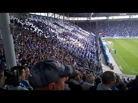 1.FC Magdeburg vs FC Hansa Rostock, Choreo Block U am 09.09.2017