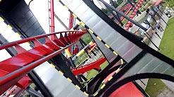 X-Flight Front Right POV 2015 FULL HD Six Flags Great America