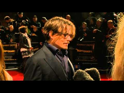 The Rum Diary London premiere - Johnny Depp interview
