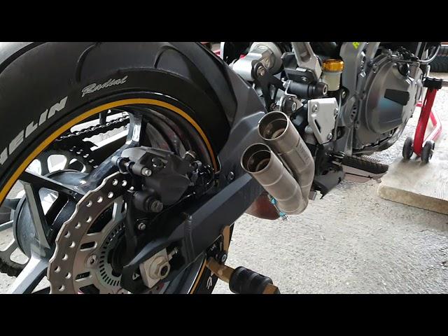 Kawasaki Z900 exhaust Mivv Double Gun !
