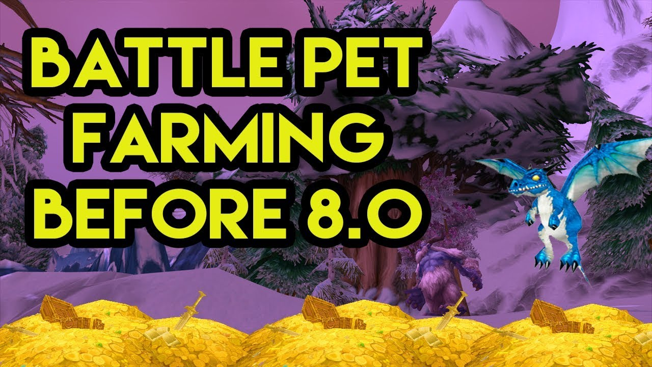 World Of Warcraft Gold Farm Battle Pet Farm To Do Before BFA