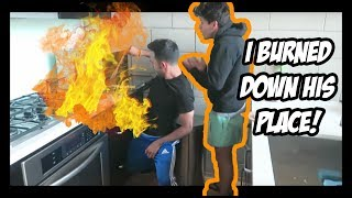 ALMOST BURNED DOWN RUDY MANCUSO'S APT
