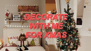 decorate for christmas with me ❄ holiday room makeover