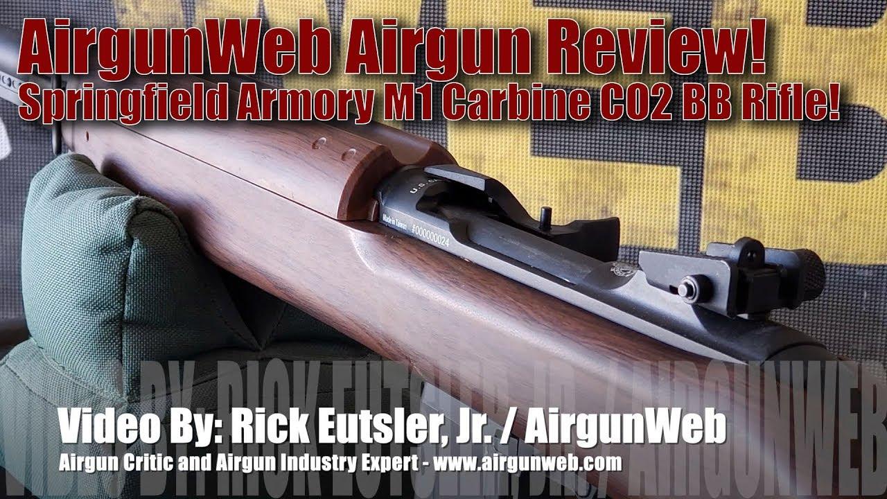 Springfield Armory M1 Carbine Replica Review! CO2 BB Rifle from Air Venturi  Available PyramydAir com