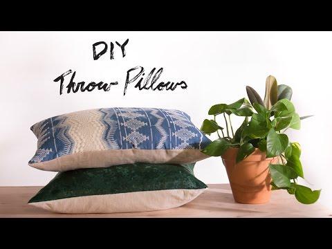 cc978f94bf DIY Sew/ No Sew Throw Pillows - YouTube