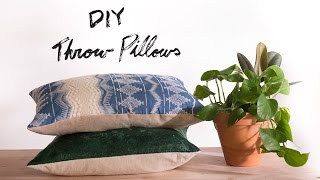 DIY Sew/ No Sew Throw Pillows