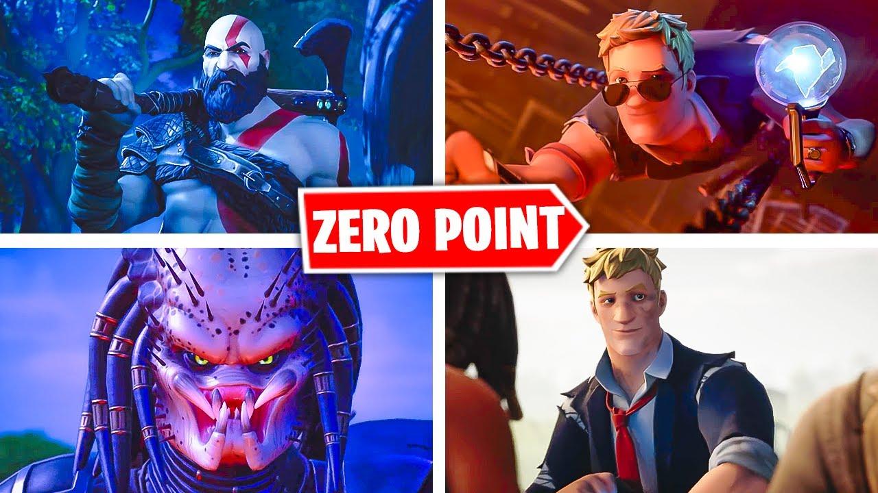 All Fortnite Cinematics Trailers Zero Point Skins