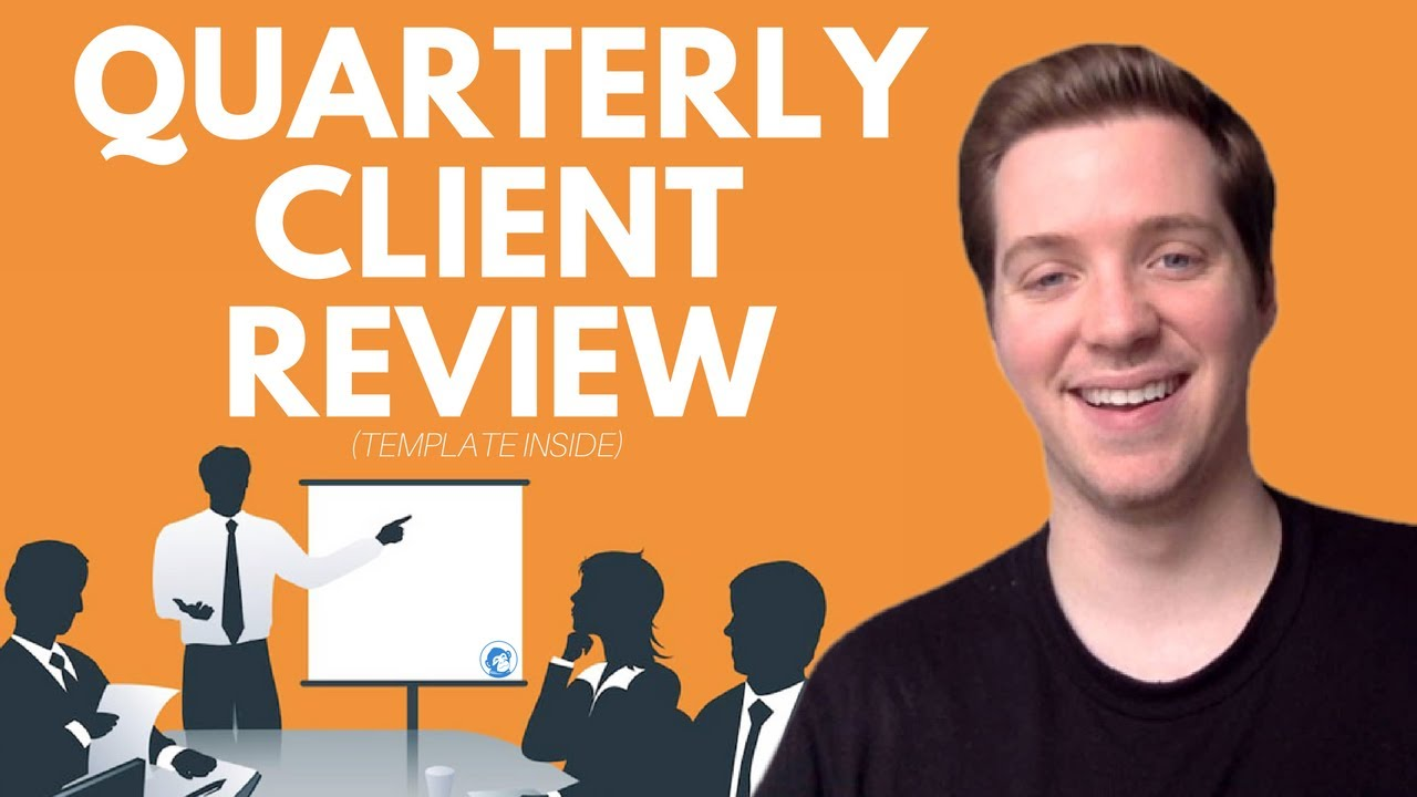 how to structure a quarterly client review presentation presentation template included