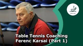 Table Tennis Coaching Session Ferenc Karsai - Part 1