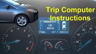 Ford trip computer instructions, operation, function - VOTD