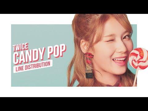 TWICE - CANDY POP Line Distribution (Color Coded) | 트와이스  | トゥワイス