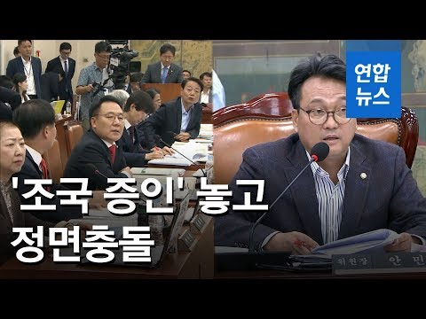 문체위, '조국 증인' 놓고 정면충돌…한국당 퇴장 '반쪽진행' / 연합뉴스 (Yonhapnews)