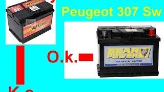 Výměna autobaterie Peugeot 307 Sw