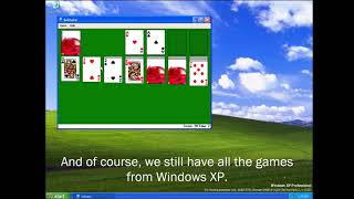 Windows Vista but its actually just Windows XP
