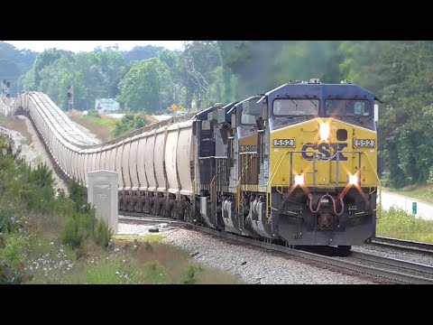 [0p] Full Documentary of CSX Switching the Feed Mill in Comer GA, 06/02/2015 ©mbmars01
