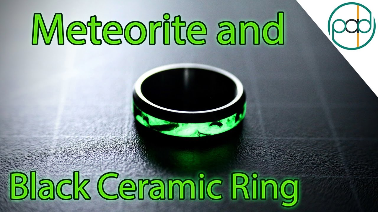 Making a Glowing Meteorite and Black Ceramic Wedding Ring ...