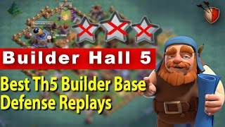 Clash of Clans Builder Hall 5 |Best Th5 Builder Base | Defense Replays | Th5 Builder Base Layout