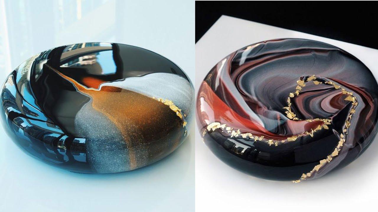 Most Satisfying Mirror Glaze Cake Decorating Compilation #GlazeCake