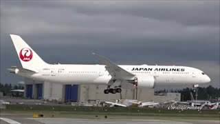 1st Japan Airlines 787-9 Dreamliner Fully Painted Test Flight @ KPAE Paine Field