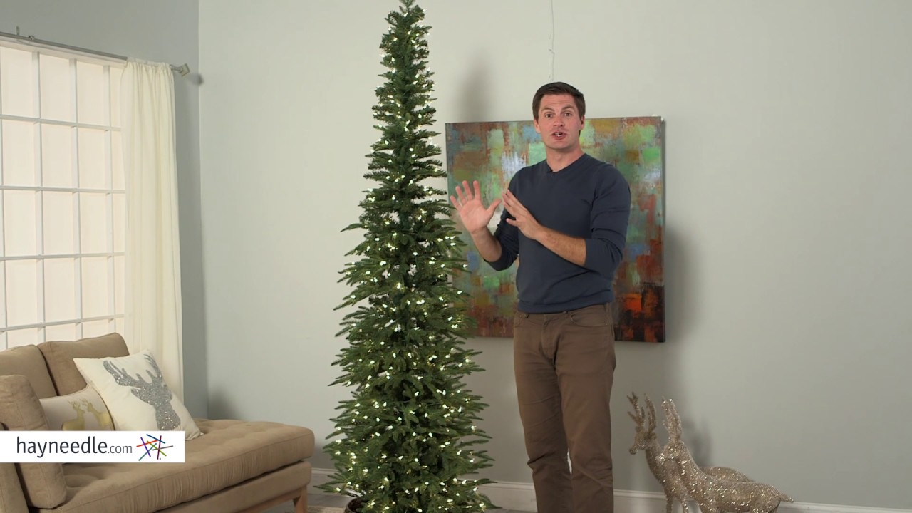 Pencil Christmas Tree.Bixley Pencil Pre Lit Christmas Tree Product Review Video
