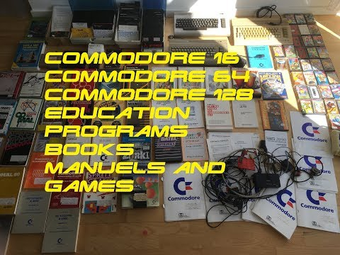 Incredible Commodore 64 Education Collection Commodore 16 C64 C128 Books Programs And Games