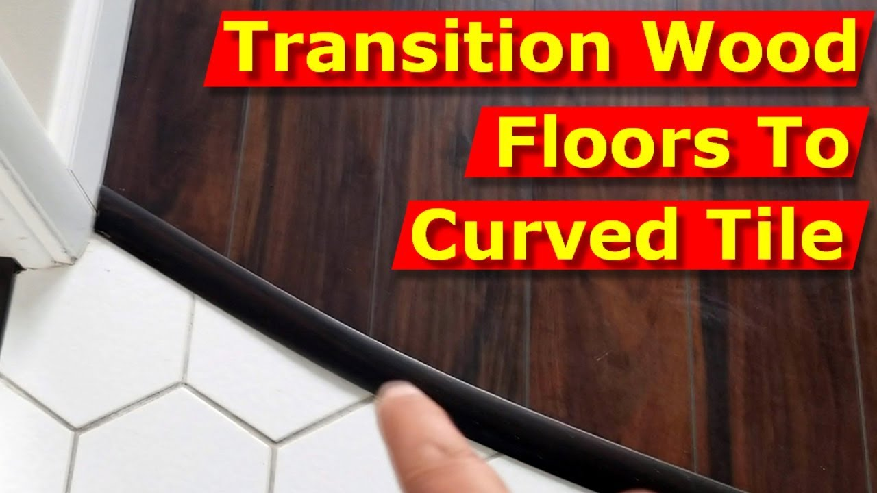 how to transition wood floors to curved tile floor
