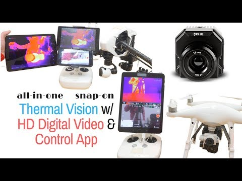 HD THERMAL VISION for drones with Digital Video & Control App for Inspection, SAR...