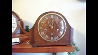Antique Smiths Enfield Westminster Chime Mantel Clock