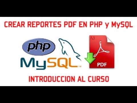 Generar un PDF con una tabla PHP y MySQL BaulPHP