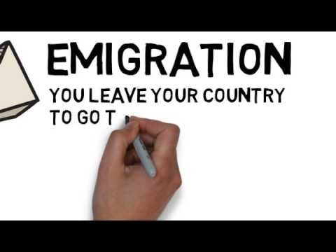 What is migration? Immigration and emigration