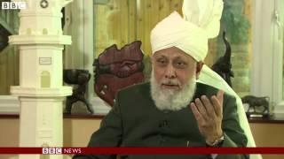 BBC News: Khalifa of Islam Ahmadiyya says Mosques should have message of harmony and peace