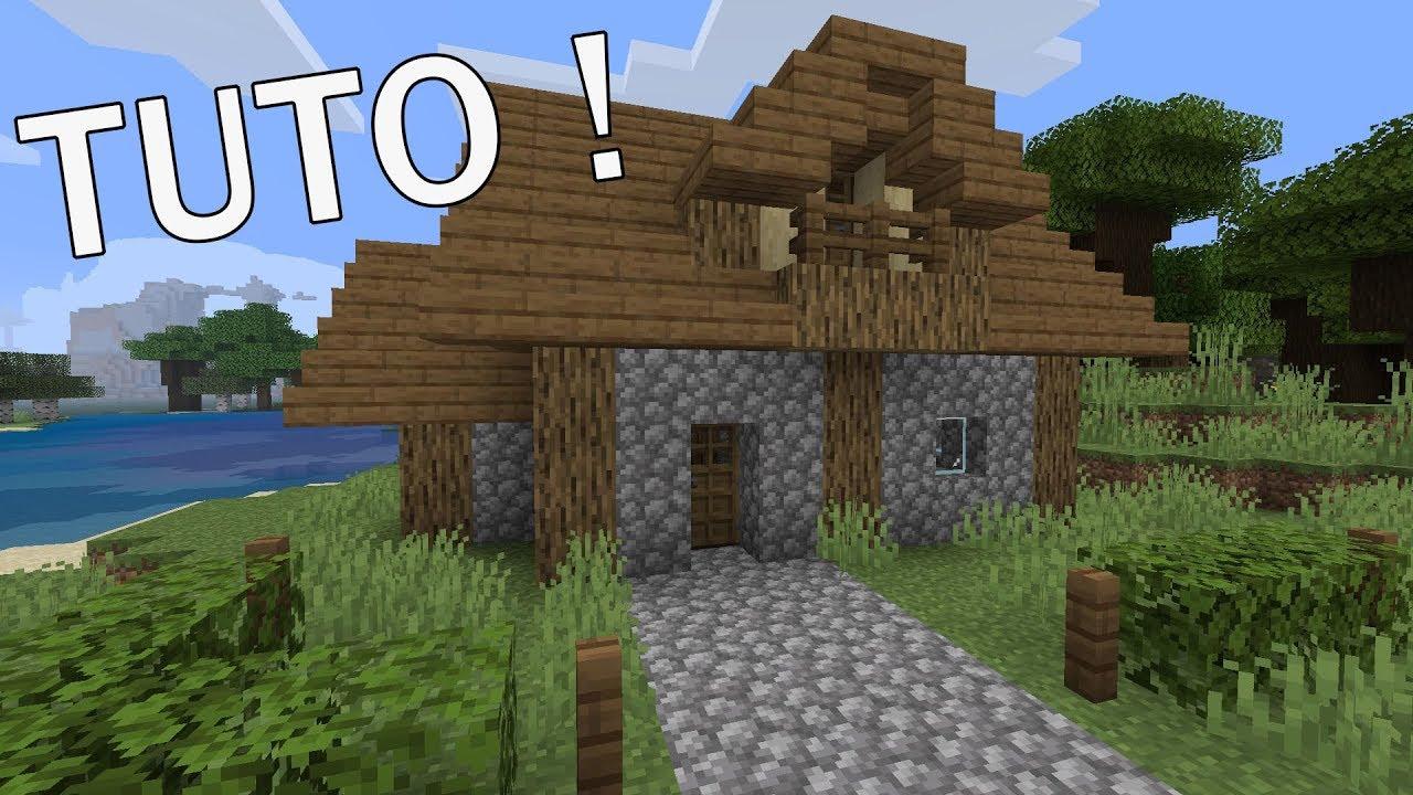 Maison En Bois Et En Pierre Minecraft Ps4 Youtube