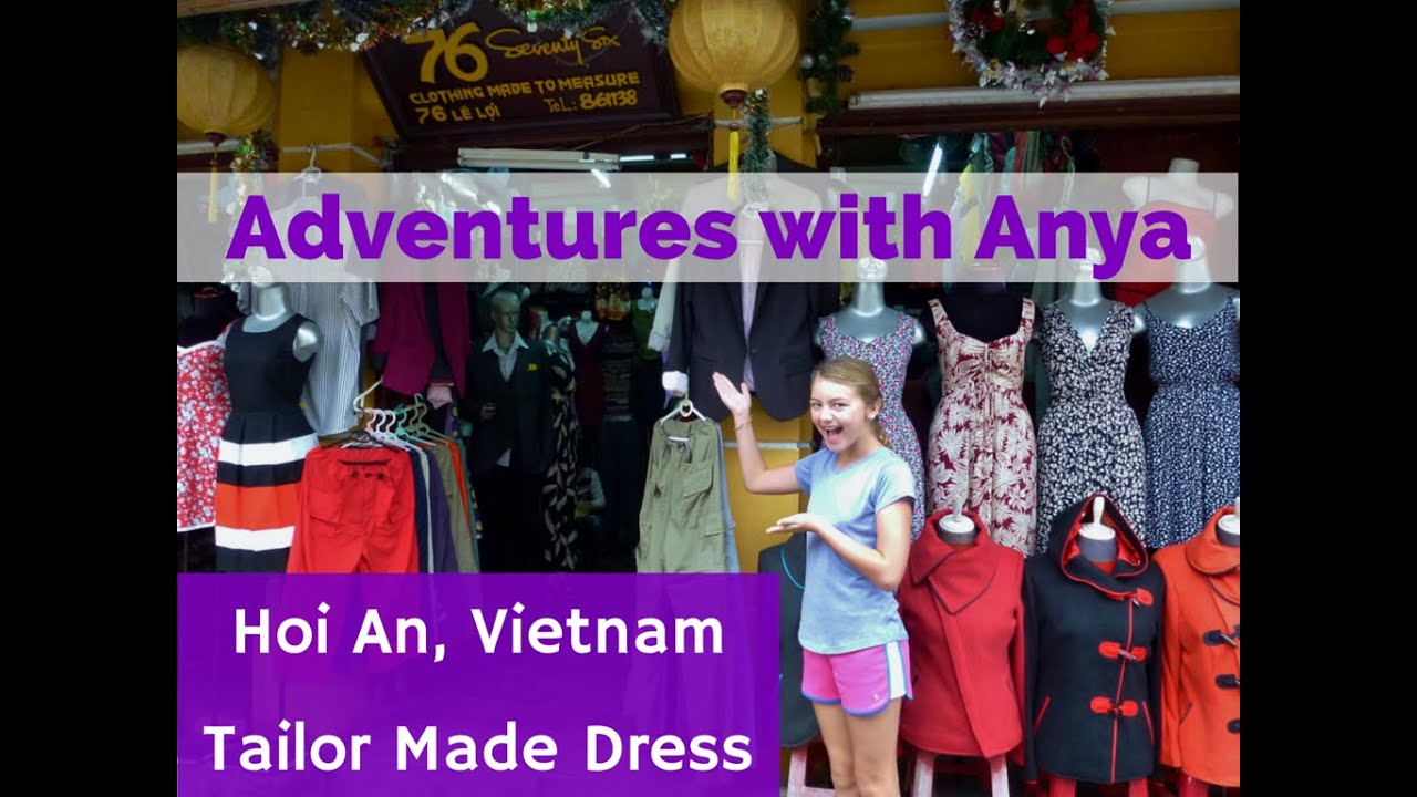 08acfbda689 Hoi An Vietnam Tailor Made Dress - Adventures with Anya