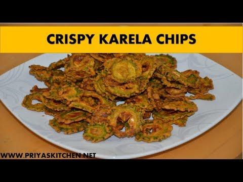 KARELA CHIPS-Crispy Karela Chips recipe-Crispy Karela Fry Recipe