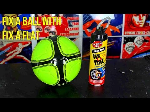 how to fix a flat soccer ball