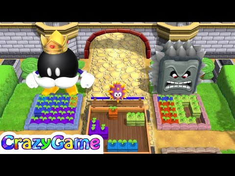 Mario Party 9 Garden Battle #7 King Bomb-omb vs Whomp Gameplay (Master CPU)