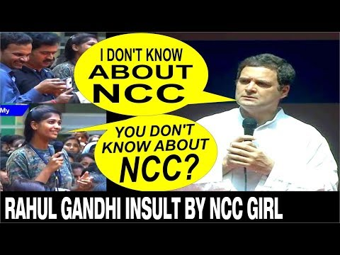 Rahul Gandhi does not know about NCC | INSULT by Student in Mysuru thumbnail