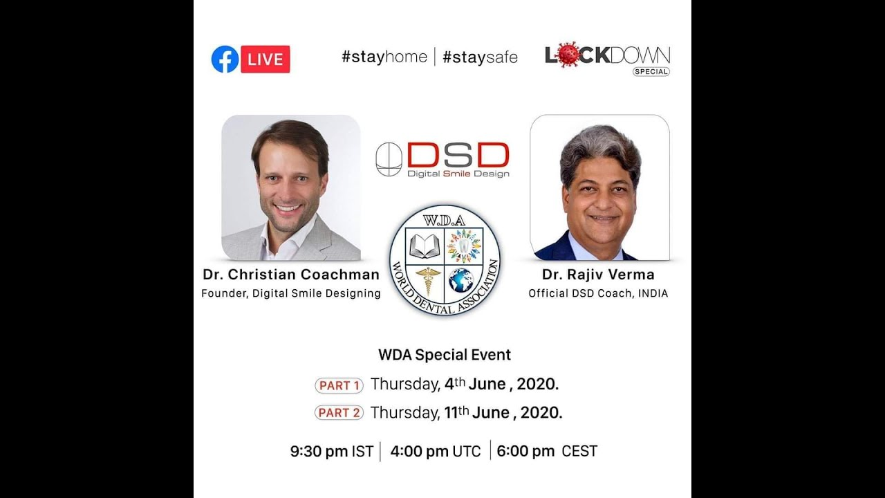 DIGITAL SMILE DESIGN(DSD) BY Dr.CHRISTIAN COACHMAN & Dr.RAJIV VERMA #WDA #DENTAL #DSD #SMILE #DESIGN